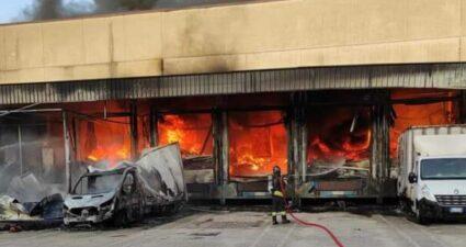 Incendio Marcianise
